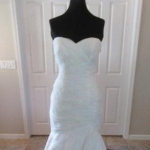 Mori Lee Fit and Flare Ivory Wedding Dress 18 NWT